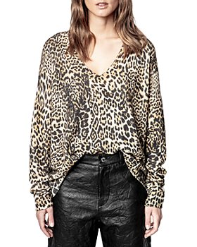 Zadig & Voltaire - Rosy Leopard Print Cashmere Sweater
