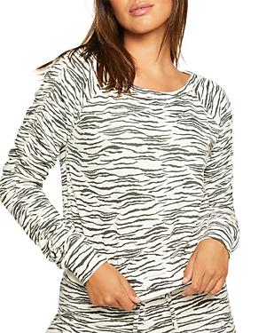 Chaser Sweatshirts ZEBRA PRINT SWEATSHIRT