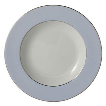 "Bernardaud - ""Dune Blue"" Rim Soup Plate"