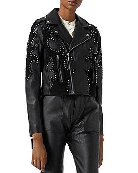 The Kooples - Studded Leather Biker Jacket