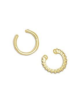 Kendra Scott - Selena Cubic Zirconia Mismatch Ear Cuffs in 14K Gold Plate, Set of 2