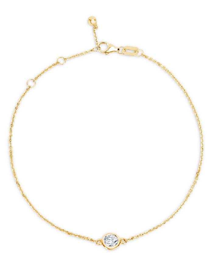 Bloomingdale's Diamond Bezel Bracelet in 14K Yellow Gold, 0.20 ct. t.w. - 100% Exclusive  | Bloomingdale's