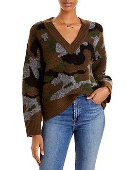 AQUA - Camo Print Sweater