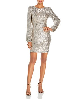 AQUA - Sequin Long Sleeve Dress