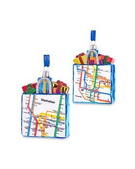 Kurt Adler - MTA NYC Transit Glass Manhattan Gift Bag Ornament