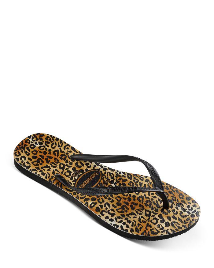 Havaianas Women's Slim Leopard Thong Sandals  | Bloomingdale's