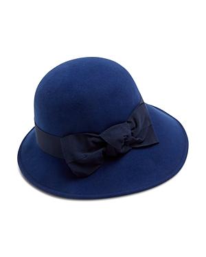 Raffaello Bettini Medium Wool Felt Cloche Bow Hat