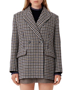 Maje - Golda Houndstooth Coat
