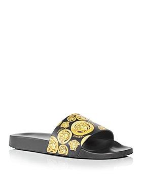 Versace - Men's Medusa Print Slide Sandals