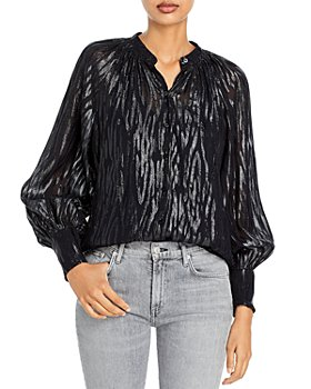 Rebecca Taylor - Metallic Printed Button Front Shirt