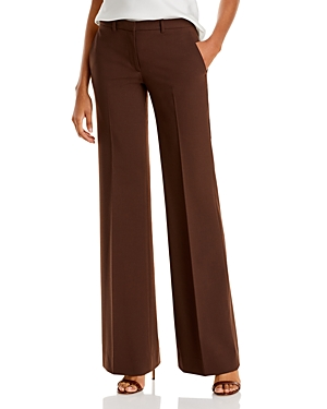 Theory Demitria Wool-Blend Flared Pants