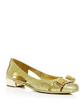 Salvatore Ferragamo - Women's Vara Glitter Jelly Flats