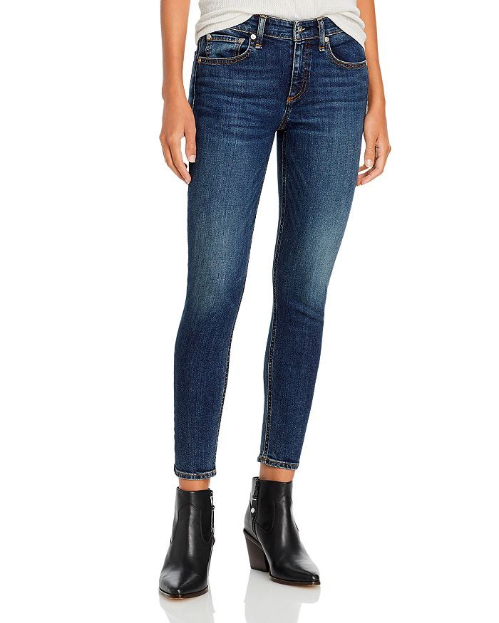 rag & bone - Cate Mid Rise Skinny Ankle Jeans in Marigold