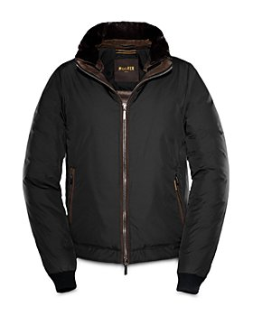 Moorer - Zip Front Bomber Down Jacket
