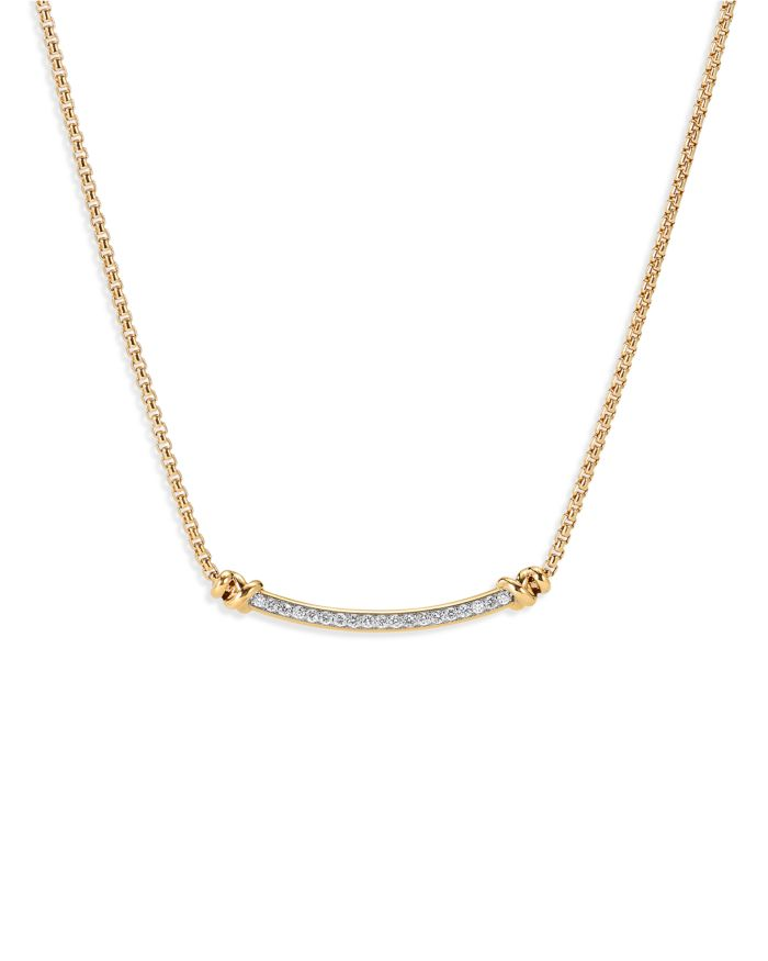 """David Yurman Petite Helena Station Necklace in 18K Yellow Gold with Diamonds, 17""""    Bloomingdale's"""