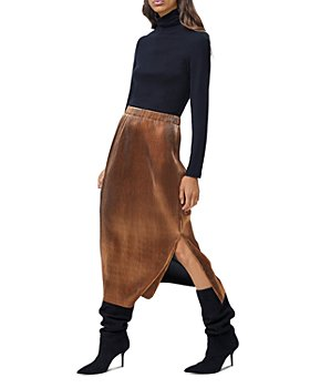 FRENCH CONNECTION - Taina Metallic Skirt