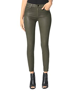 Joe's Jeans - The Charlie Skinny Coated Ankle Jeans in Autumn Sage