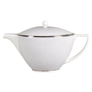 Jasper Conran at Wedgwood Blue Pinstripe Teapot