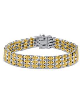 Bloomingdale's - Men's Diamond Link Bracelet in 14K White & Yellow Gold, 1.20 ct. t.w. - 100% Exclusive