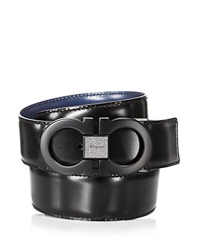 Salvatore Ferragamo - Men's Tonal Double Gancini Reversible Leather Belt