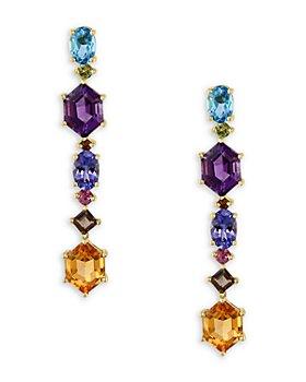 Bloomingdale's - Multi-Gemstone Fancy Drop Earrings in 14K Yellow Gold - 100% Exclusive
