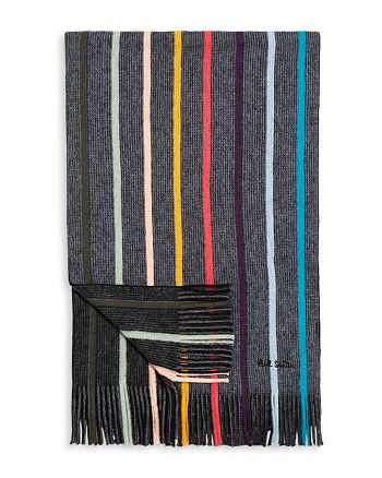 Paul Smith - Rainbow Striped Scarf