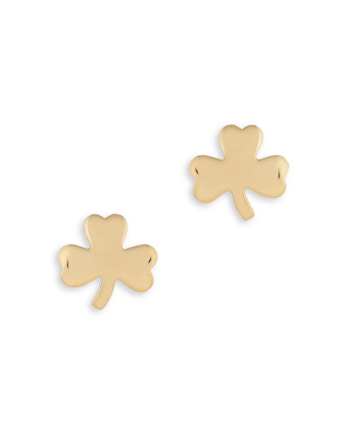 Bloomingdale's Small Clover Stud Earrings in 14K Yellow Gold - 100% Exclusive    Bloomingdale's