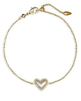 Kendra Scott - Ari Mother of Pearl Heart Chain Bracelet