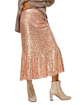 Whistles - Sequin Midi Skirt