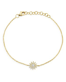 Moon & Meadow - 14K Yellow Gold Diamond Starburst Bracelet - 100% Exclusive