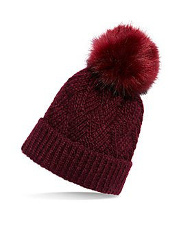 Free People - Pinnacle Faux Fur Pom Pom Beanie