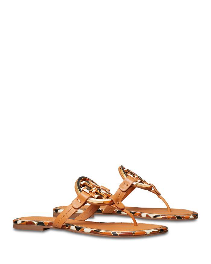 Tory Burch Women's Miller Enamel Thong Sandals  | Bloomingdale's