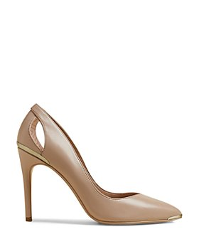 Ted Baker - Women's Pointed Toe Cut Out Leather High Heel Pumps