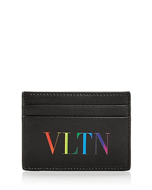 Valentino Rainbow Logo Small Leather Card Case-Men