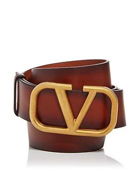 Valentino Garavani - Men's Logo Buckle Leather Belt