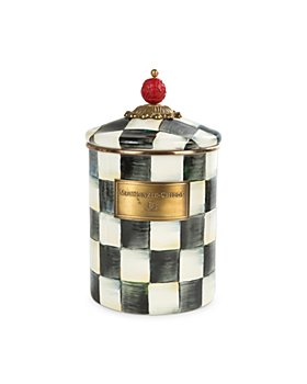 Mackenzie-Childs - Courtly Check Medium Enamel Canister