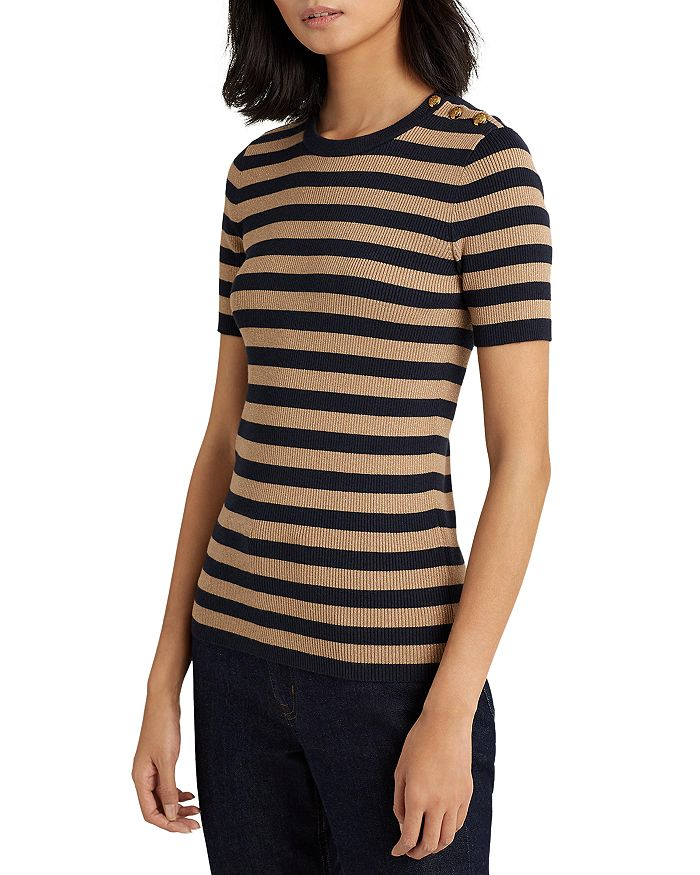 Ralph Lauren - Metallic Striped Sweater
