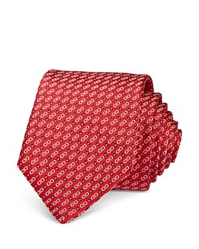 Salvatore Ferragamo - Gancini Silk Skinny Tie
