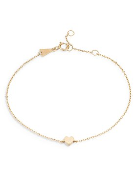 Adina Reyter - 14K Yellow Gold Puffy Heart Chain Bracelet