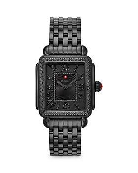 MICHELE - Deco Madison Noir Black Diamond Watch, 34mm