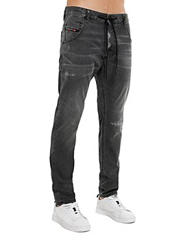 Diesel - Krooley-Y-Ne Straight Slim Fit Jogger Jeans in Black Denim