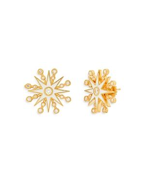 18K Yellow Gold Galaxia Diamond & Enamel Star Stud Earrings