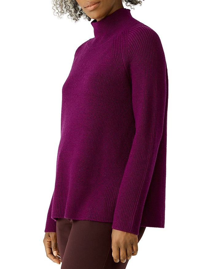 Eileen Fisher Petites - Ribbed Merino Wool Turtleneck Sweater