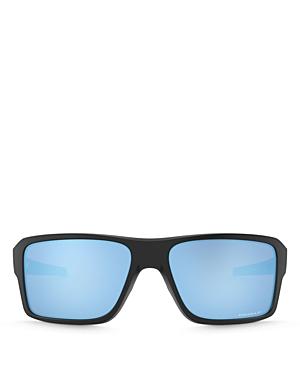 Oakley Men\\\'s Double Edge Polarized Rectangle Sunglasses, 66mm-Jewelry & Accessories
