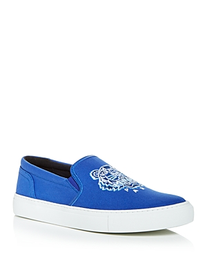Kenzo MEN'S TIGER EMBROIDERED SLIP ON SNEAKERS
