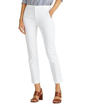 Ralph Lauren - High Rise Slim Fit Pants