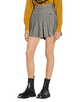 Sandro - Courney Houndstooth Pleated Skort