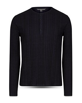 John Varvatos Collection - Ribbed Henley Tee