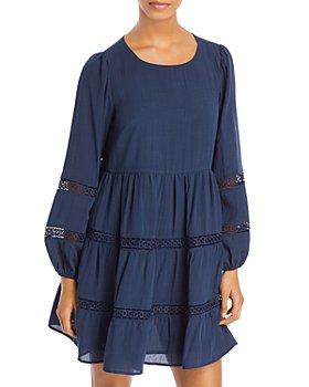 AQUA - Lace Inset Mini Dress - 100% Exclusive