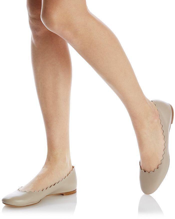 CHLOÉ Leathers WOMEN'S LAUREN BALLET FLATS